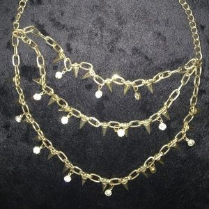 Studs & Diamonds Necklace